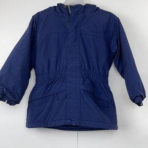 L.L.Bean Boys Hood Fleece Lined Jacket Toddlers 3T